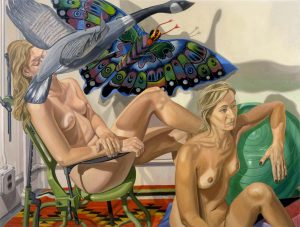 2007 Two Nudes with Flying Goose