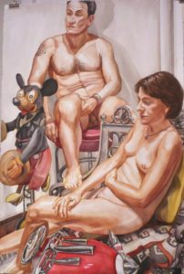 2008 - Male and Female Model - Watercolor - 60x40