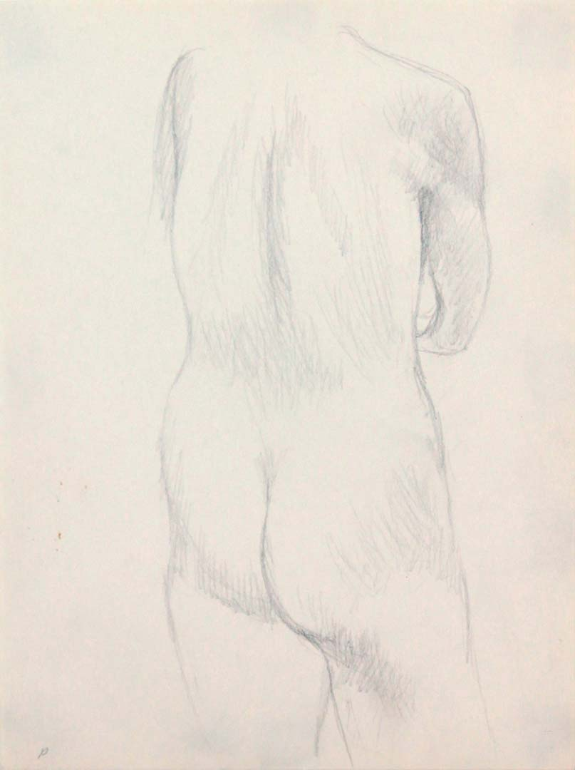 Back of Nude Pencil 12 x 9