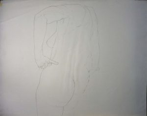 Female Model Back Pencil 27.875 x 29