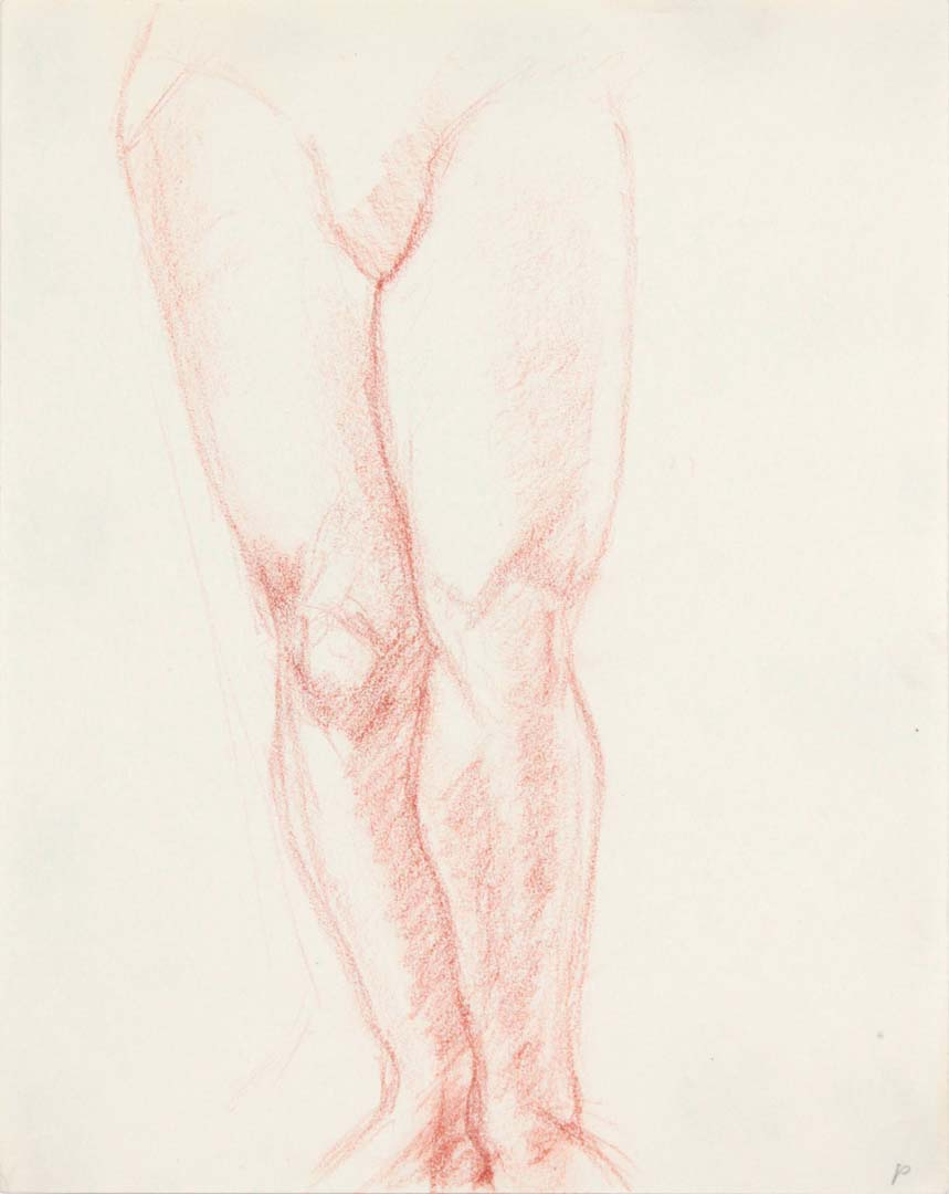 Legs of Female Standing Red Pencil 11 x 8.5