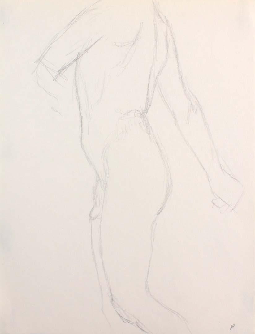 Male Nude Twisting Pencil 12 x 9