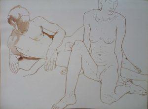 Male and Female Models in Studio Sepia 22 x 30