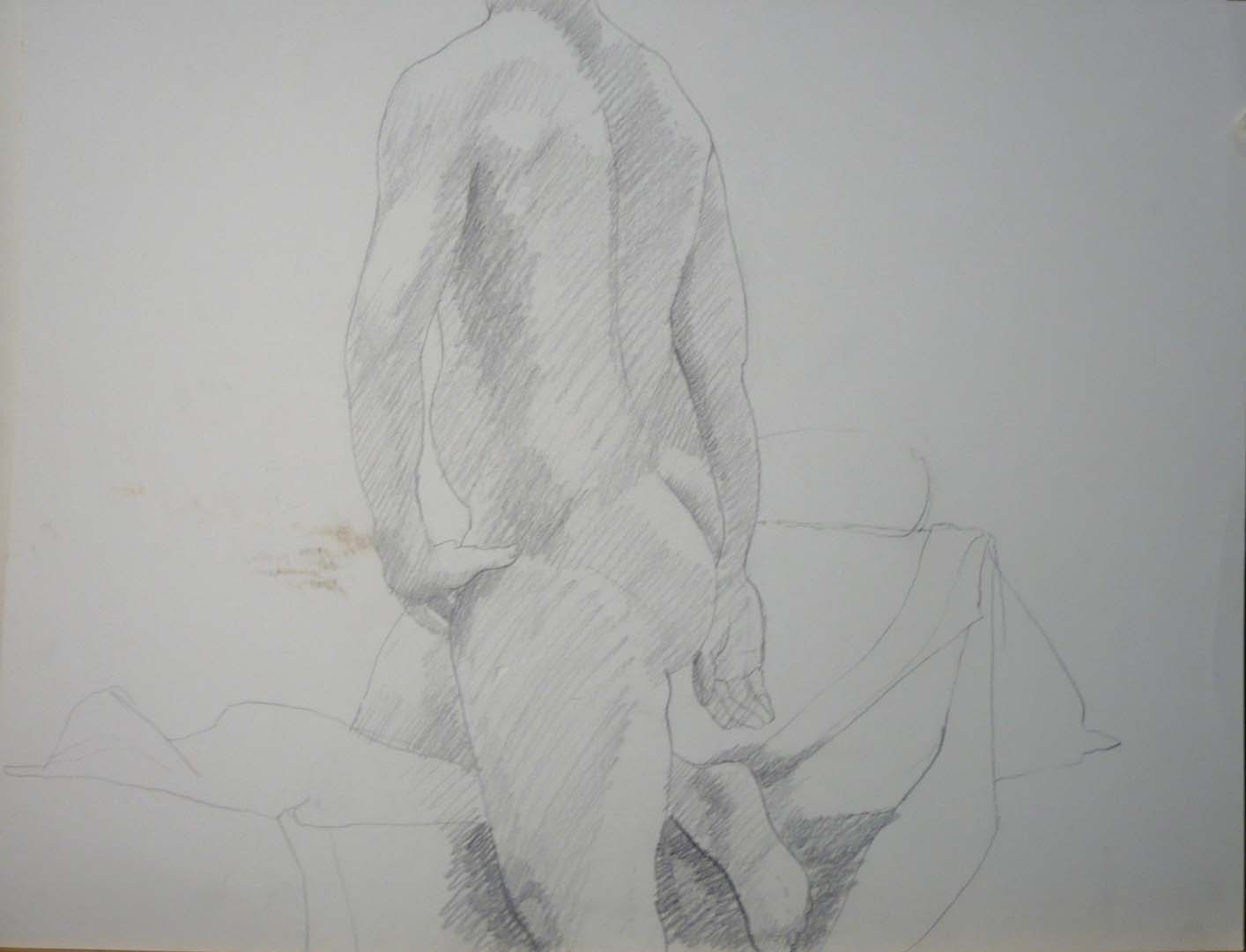 Nude with Hand on Hip Pencil 20 x 26
