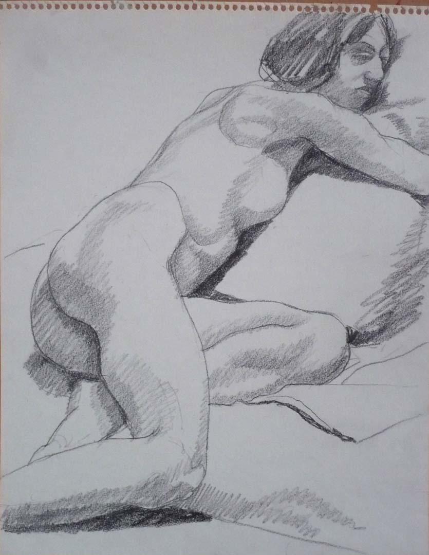 Reclined Female Model Pencil 11 x 14