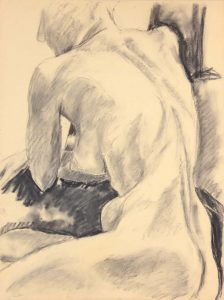 Seated Female Model Graphite 24 x 17.875
