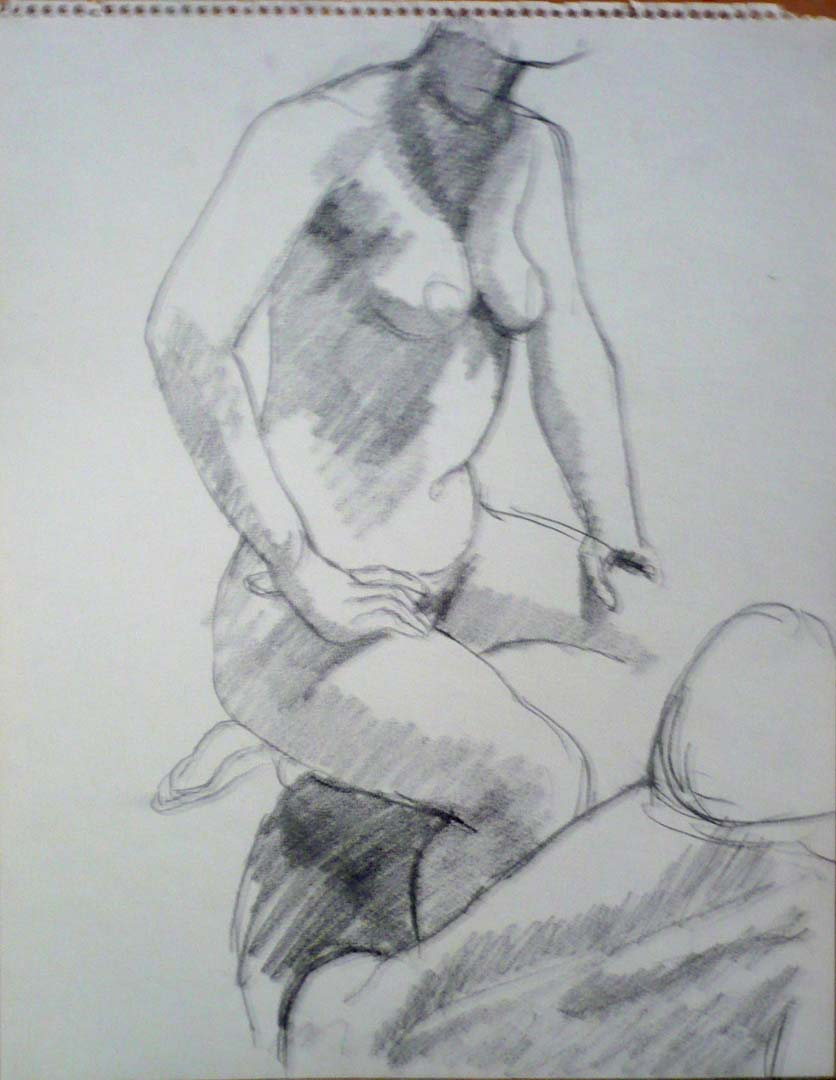 Seated Models Pencil 14 x 11