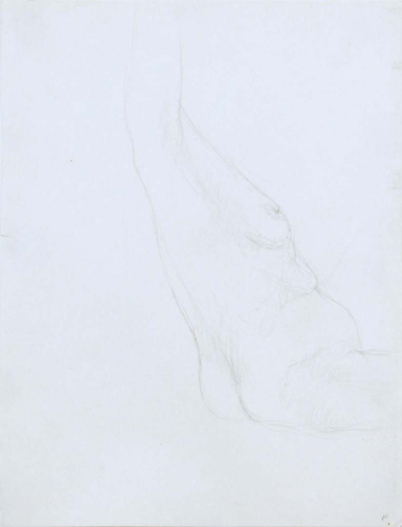 Seated Nude with Arm Raised Pencil 12 x 9