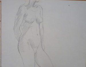 Standing Female Pencil 11 x 14