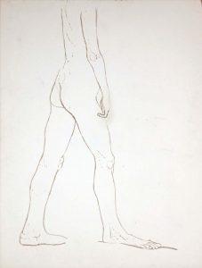 Standing Nude Wash 27.25 x 20.625