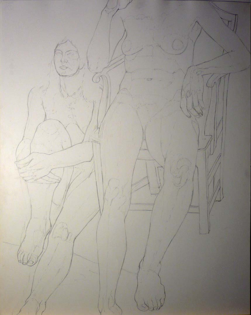 Two Sitting Nudes