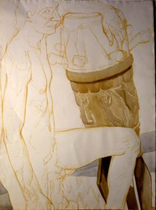 Untitled Watercolor and Sepia 30.75 x 22.625