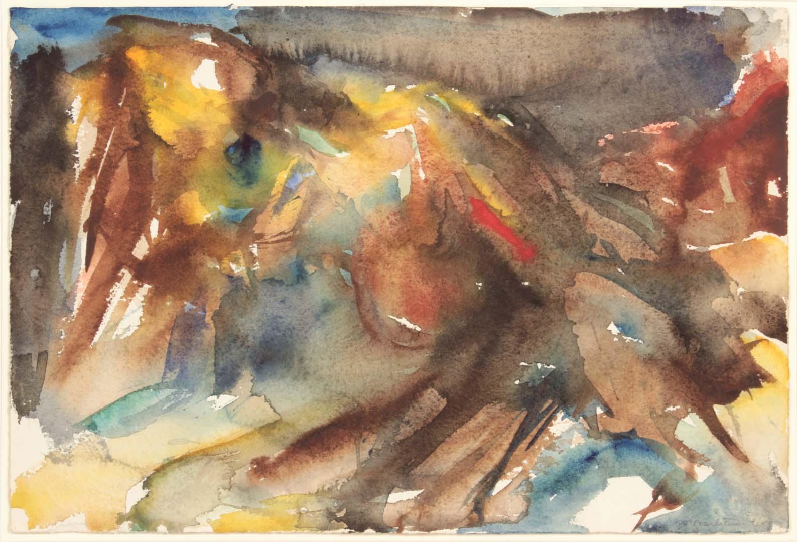 1954 Montauk Rocks #6 Watercolor on Paper 9.875 x 14.875