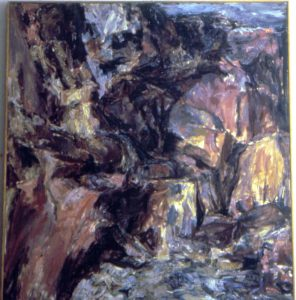 1954 The Face of the Cliff Oil on Canvas 40 x 36
