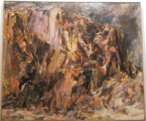 1956 Butte Landscape Oil on Canvas 36 x 44