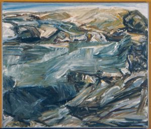 1955 Landscape at Dawn Oil on Canvas 44 x 52