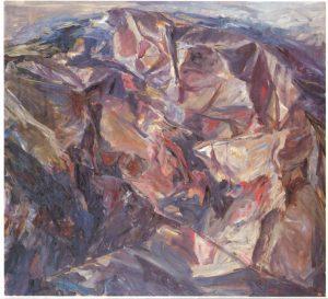 1955 Moonlit Landscape Oil on Canvas 44 x 48