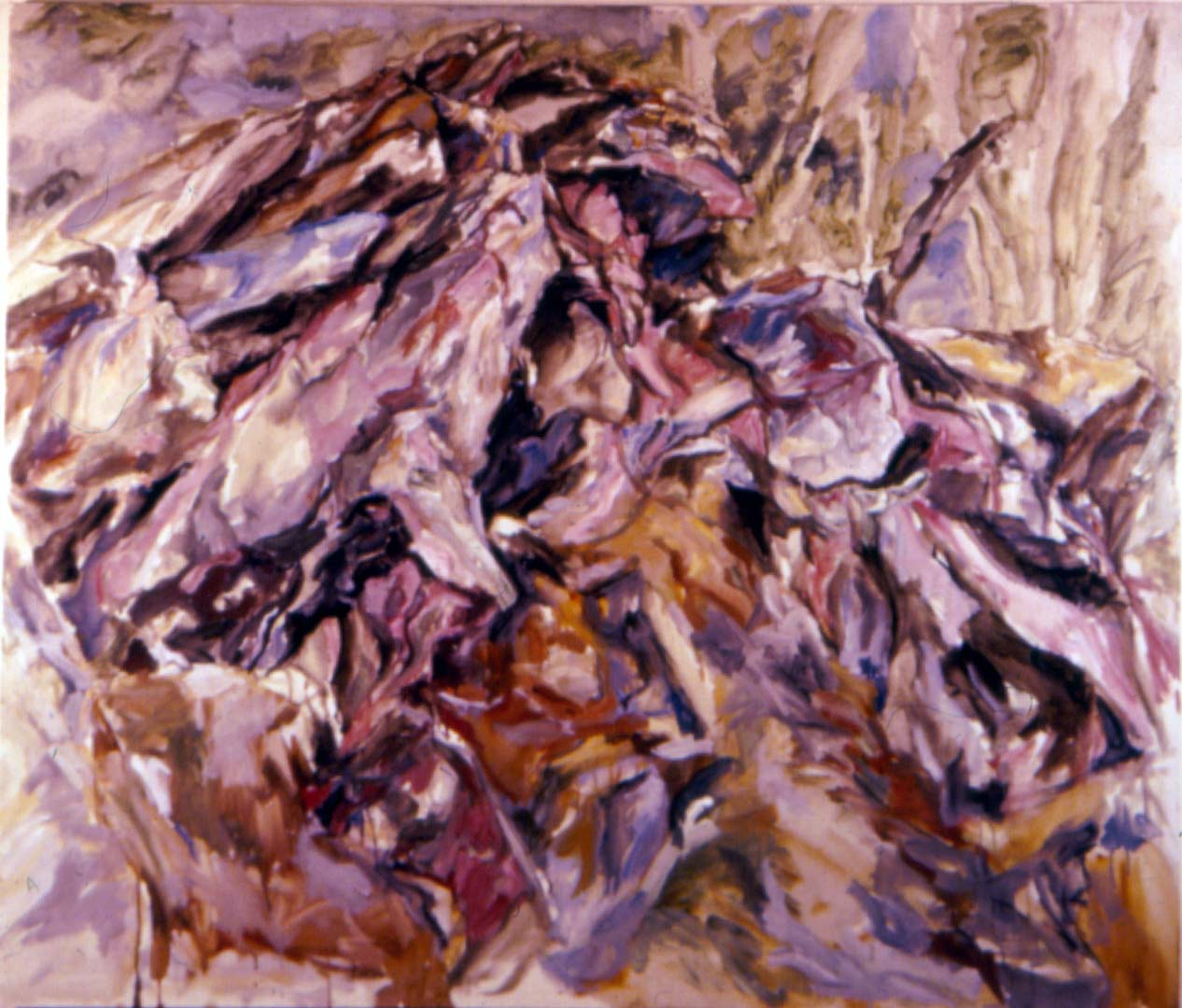 1958 Rock Mound Oil on Canvas 44 x 52
