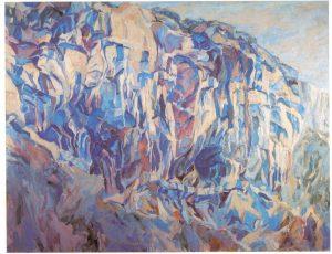 1961 Cliff Amalfi Oil on Canvas 54 x 70