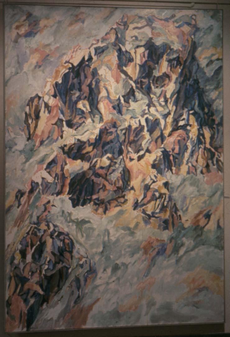 1961 Positano #3 Oil on Canvas 96 x 66