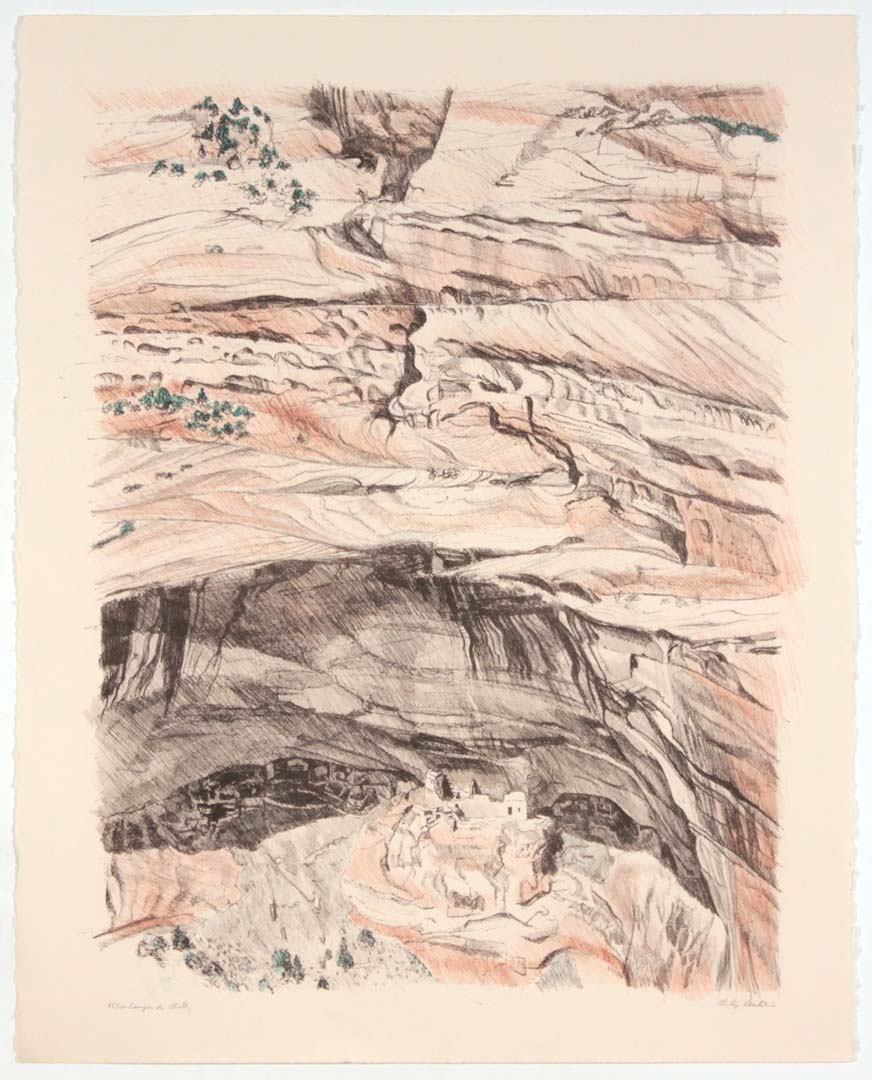 1979 Canyon de Chelly Lithograph on Paper 28 x 22.25