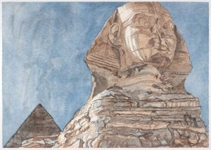 1979 The Sphinx Aquatint Etching on Paper 28.25 x 40.25