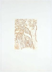 1989 Ragnaia Aquatint Etching on Paper 12 x 8.875