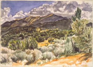 1994 Above Santa Fe Watercolor on Paper 29.5 x 41.5