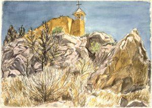1994 At Las Golondrinas Watercolor on Paper 29.5 x 41.5