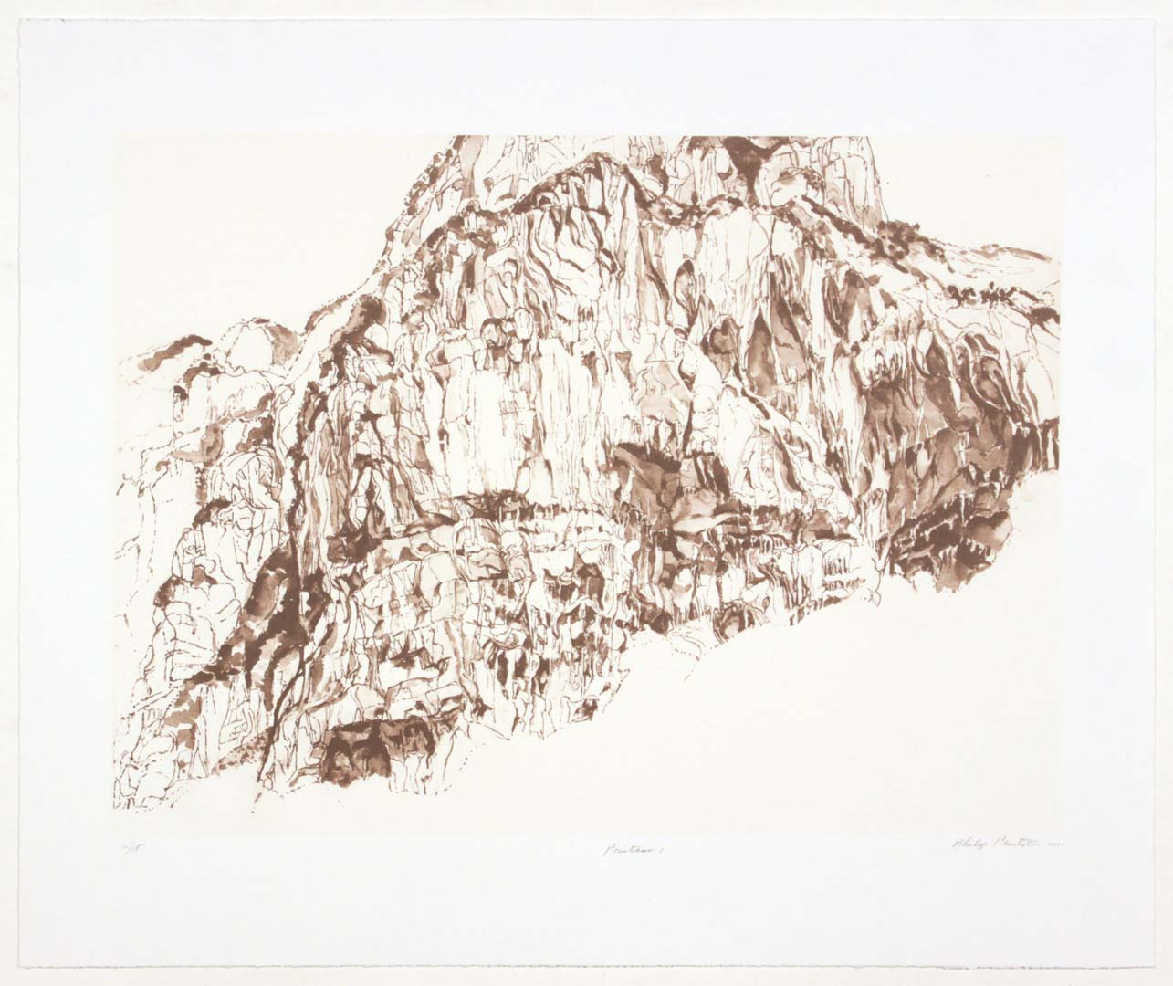 2011 Positano #1 Lithograph on Paper 20.625 x 24.625