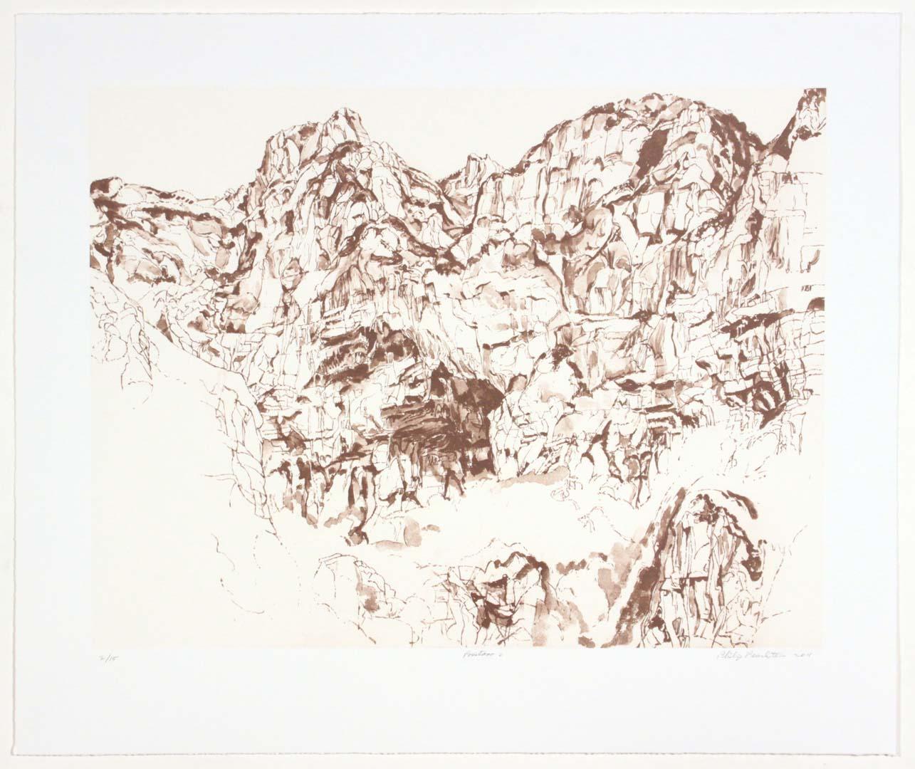 2011 Positano #2 Lithograph on Paper 20.625 x 24.625