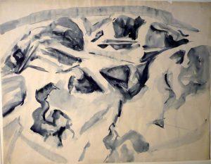 Montauk Rock #1 Watercolor on Paper