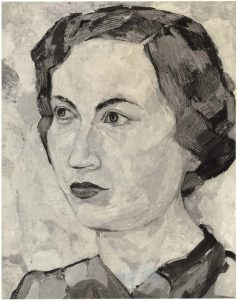 1950 Portrait of Dorothy Casein Tempera on masonite 26.50 x 24
