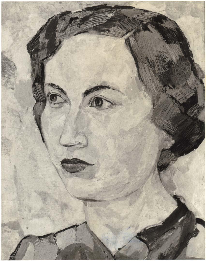 1950 Portrait of Dorothy Casein Tempera on masonite 26.50 x 24