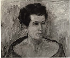 1955 Portrait of Lucia Sherwin Oil on canvas 19.375 x 23.5