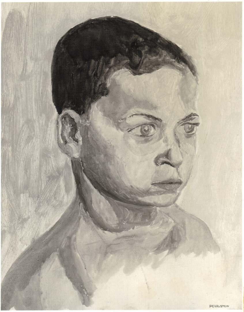 1961 Portrait of William Pearlstein Oil on canvas 14 x 11