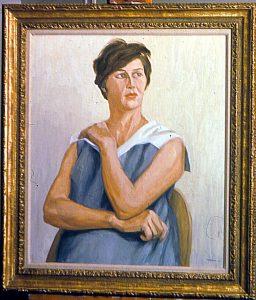 1963 Portrait of Millie Gitter Oil on canvas 25.5 x 21.75