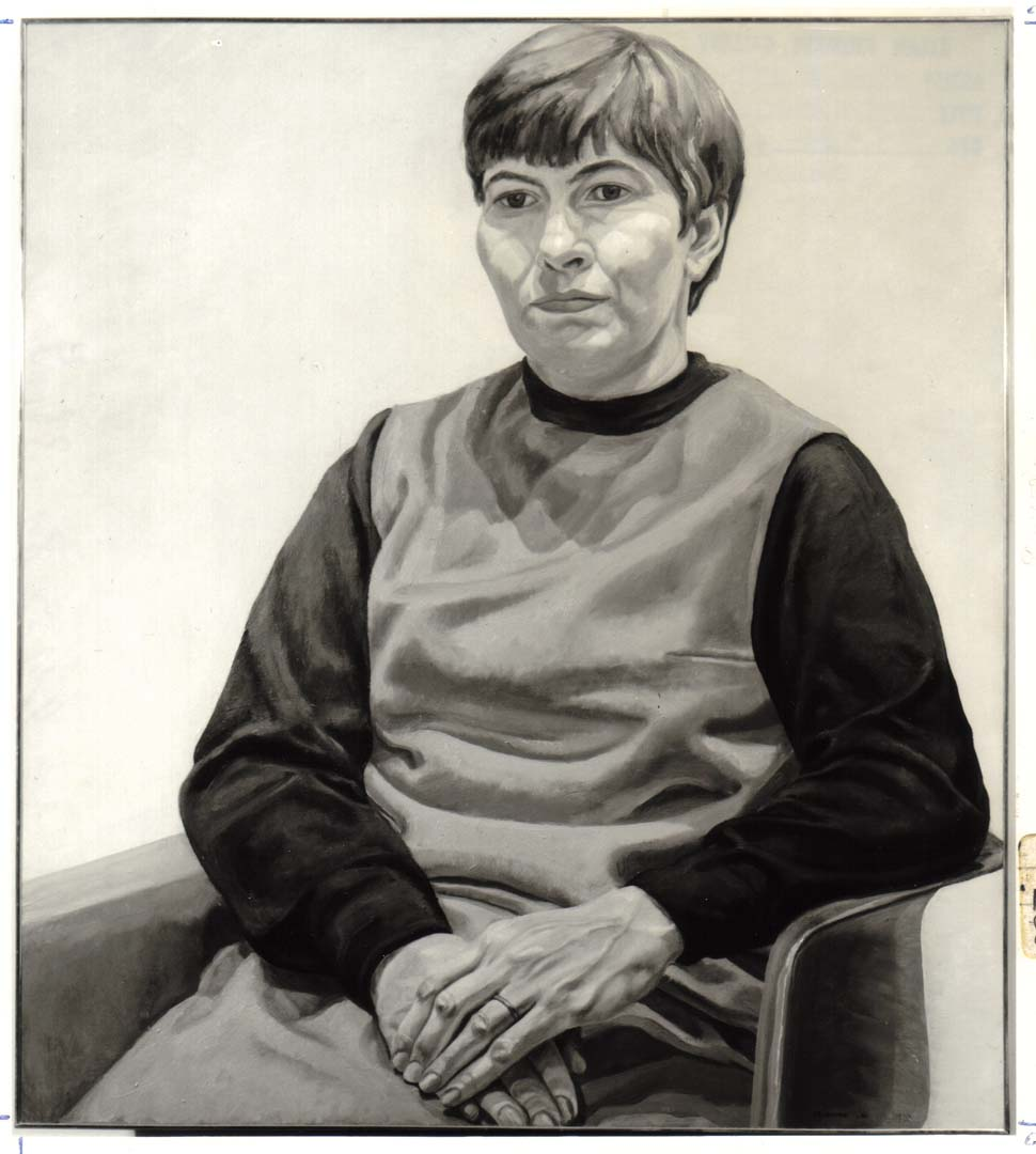 1966 Portrait of J.F. Oil on canvas 44 x 36