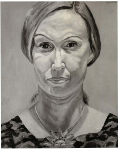 1966 Portrait of Rhea Sanders Rabinovich Oil on canvas 22 x 18