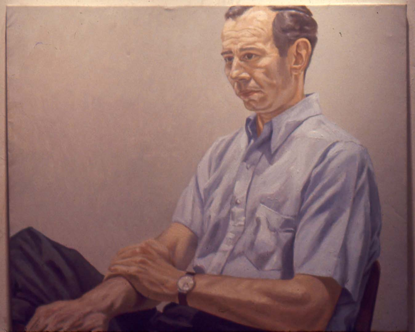 1967 Portrait of Irving Sandler Oil on canvas 36 x 44