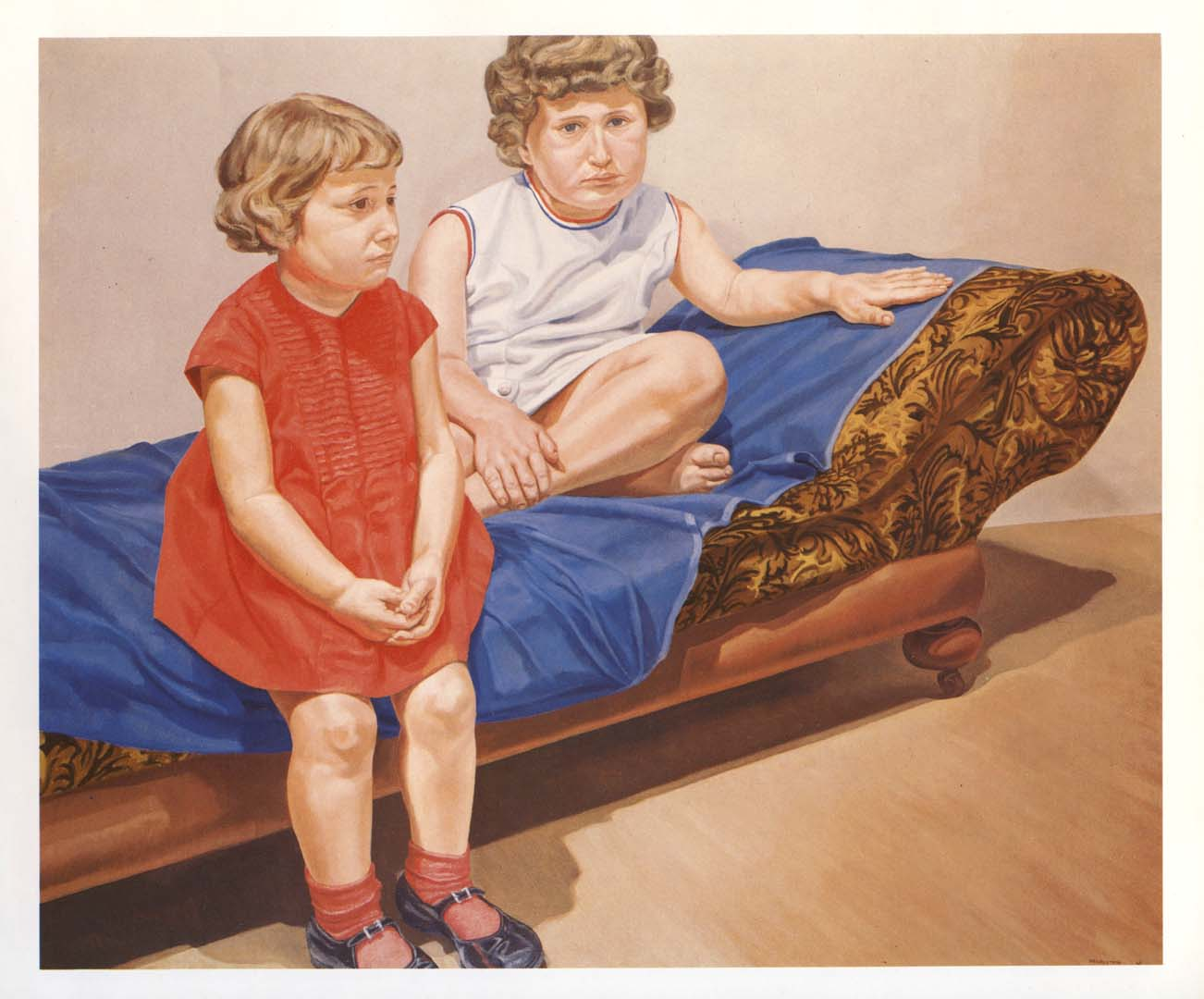 1967 Portrait of the Artist's Daughters Oil on canvas 60 x 72