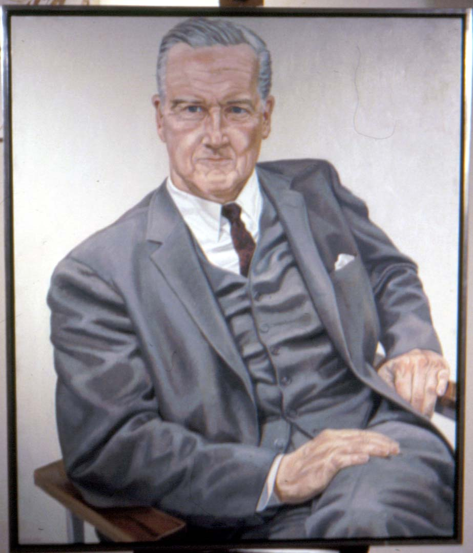 1969 Portrait of Evan Collins Oil on canvas 48 x 41.25