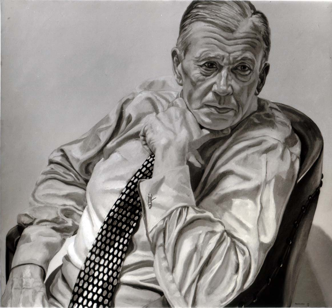 1969 Portrait of Herbert Levine (B&W image of color painting) Oil on canvas 36 x 40