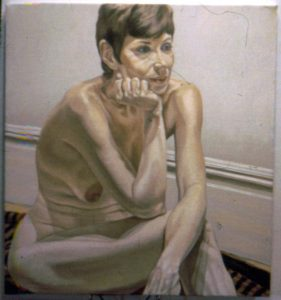 1970 Portrait of Marilyn Gould Oil on canvas 41 x 36