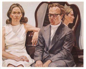 1973 Portrait of Mr. and Mrs. Edmund Pillsbury Oil on Canvas