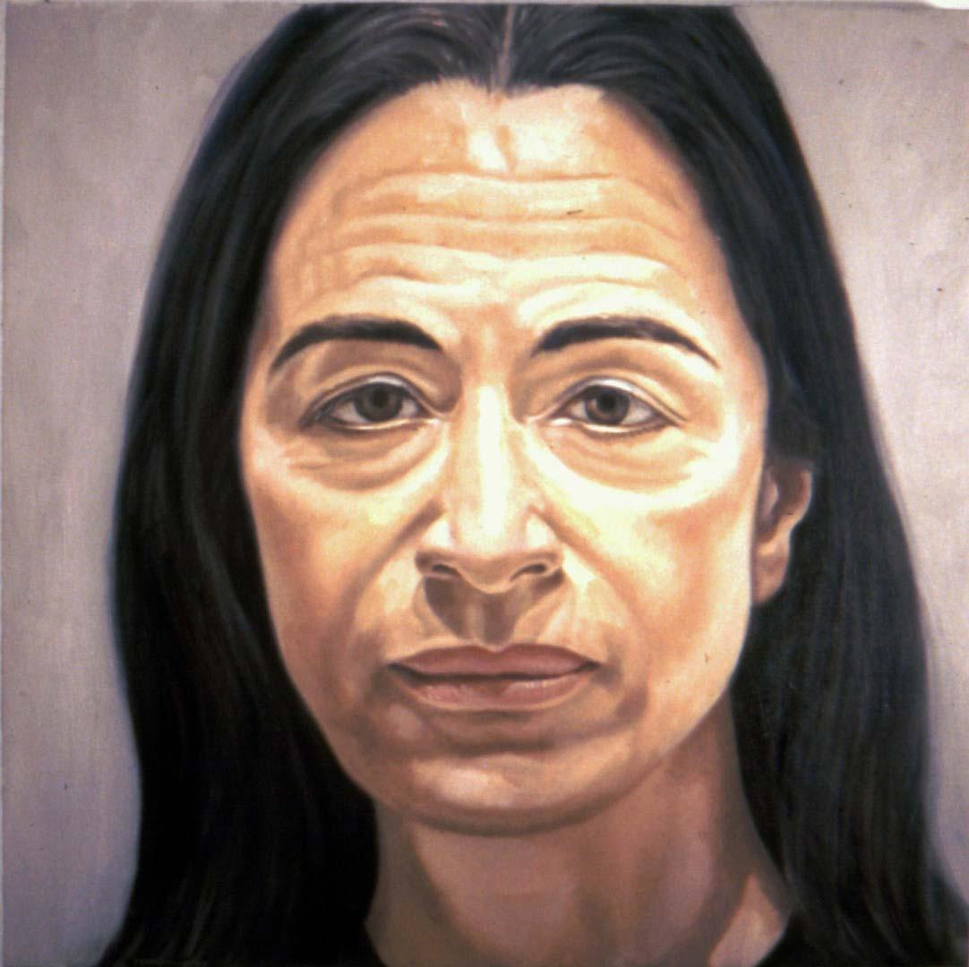 1974 Portrait of Ada Katz Oil 16 x 16