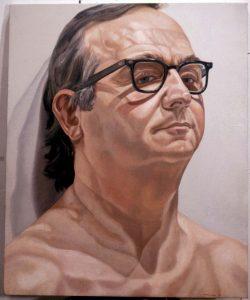 1974 Portrait of George Klauber Oil 29.5 x 24.5