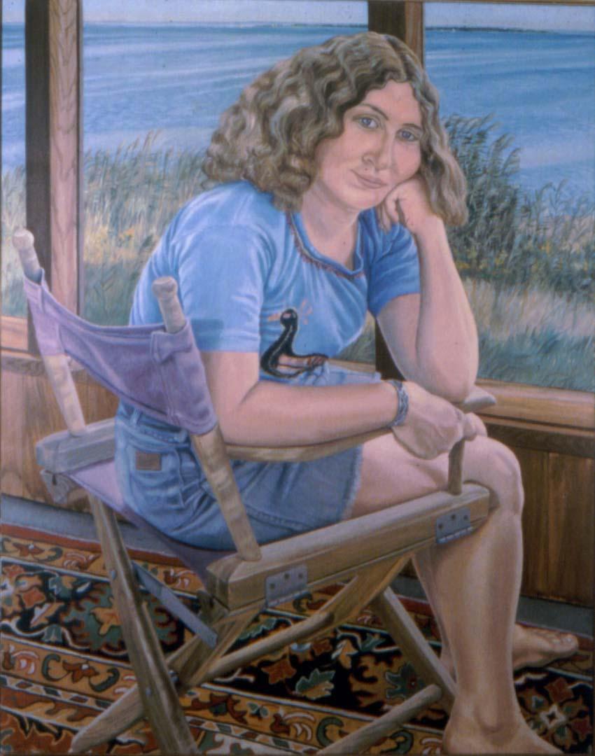 1975 Portrait of Julia on Fire Island Oil 60 x 40