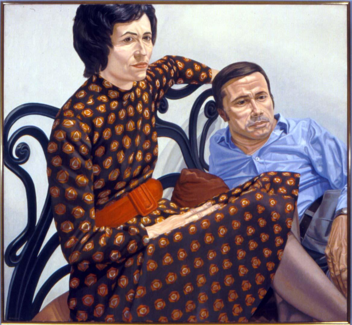 1975 Portrait of Nina & Martin Sweet Oil 44 x 48
