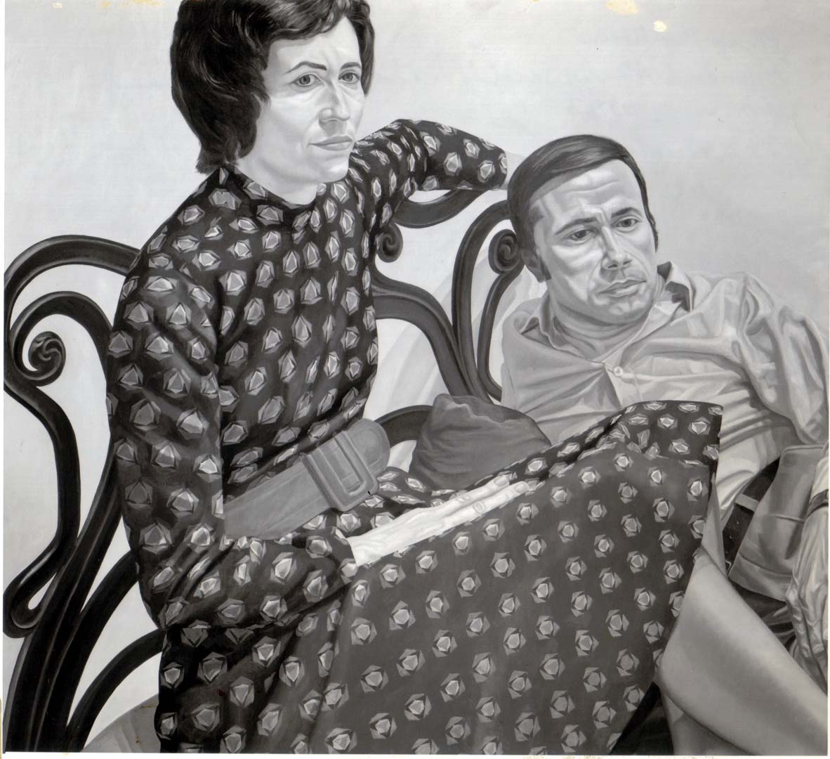 1975 Portrait of Nina and Marvin Sweet Oil on canvas 44 x 48